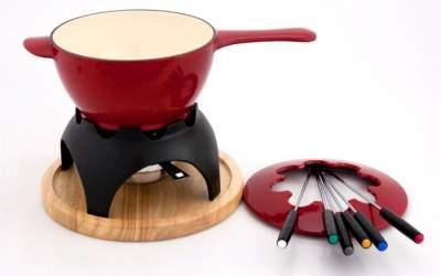 Żeliwne fondue Chasseur Mixte czerwone