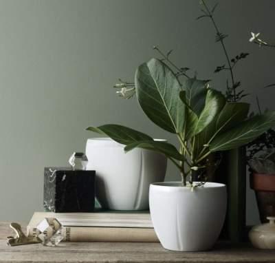 Doniczka Rosendahl Grand Cru Soft biała 16 cm